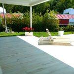 Solarium piscina casa de lujo