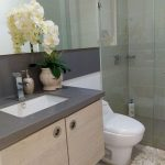 Baño social casa de lujo