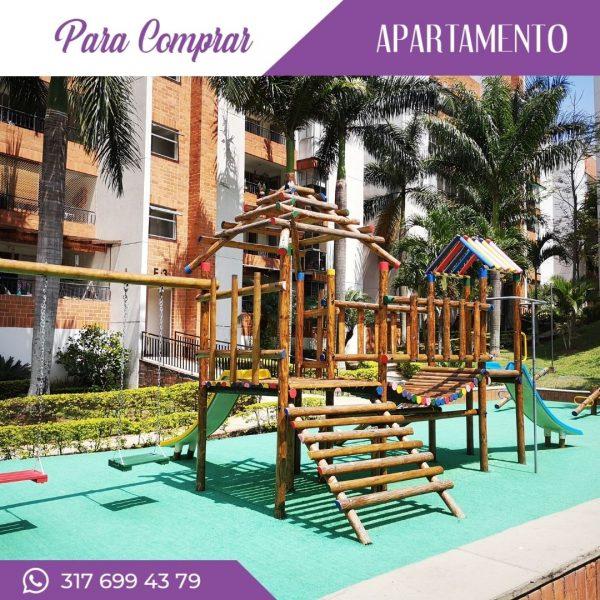 Apartamento en Cañaveralejo juegos infantiles en madera